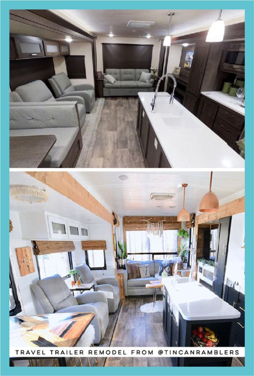 25 Awesome Travel Trailer Remodel Before And After Costs Designs