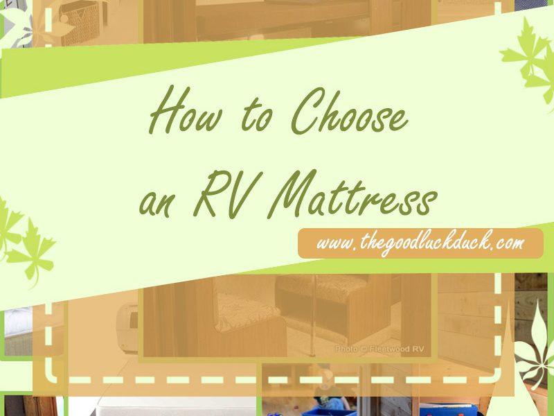 rv mattress with radius corner